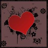 De vorm eenvoudige achtergrond van het hart Stock Afbeelding