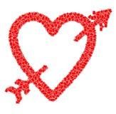 De vorm en de pijl van het hart Stock Fotografie