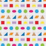 De vorm kleurrijke vectorachtergrond van de patroonmeetkunde stock illustratie