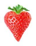 De vorm rode aardbei van het hart Royalty-vrije Stock Afbeeldingen