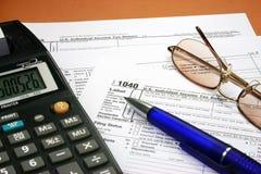 De vorm van de belasting Stock Fotografie