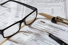 De vorm van de belasting Stock Foto's