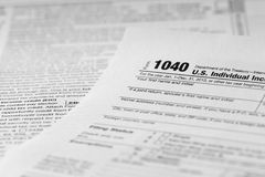 De vorm van de belasting Stock Afbeelding