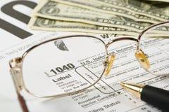 De Vorm van de Belasting van Verenigde Staten Royalty-vrije Stock Afbeeldingen