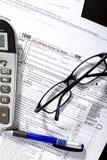 De Vorm van de Belastingaangifte van het inkomen Royalty-vrije Stock Foto