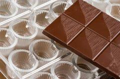 De vorm van de chocoladepraline Stock Foto's