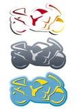 De vorm van de fiets logotype in drie versies Stock Afbeeldingen