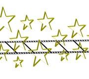 De vorm van de film met 3d ster Stock Afbeelding