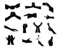 De vorm van de hand Stock Fotografie
