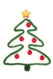 De vorm van de kerstboom Stock Afbeeldingen