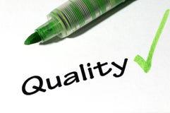 De vorm van de kwaliteit Stock Foto's