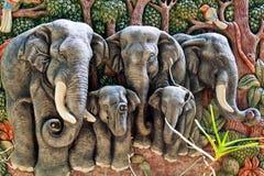 De vorm van de olifant Stock Afbeelding