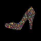 De vorm van de schoen Stock Foto's