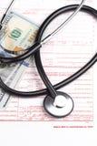 De vorm van de ziektekostenverzekeringeis Stock Afbeeldingen