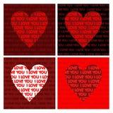 De vorm van harten van brieven - liefde Stock Fotografie