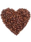 De vorm van het de boonhart van de koffie Stock Foto
