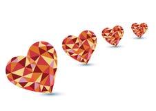 De vorm van het diamanthart Royalty-vrije Stock Afbeelding