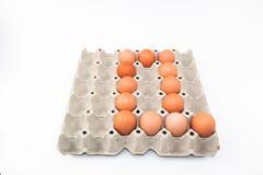 De vorm van het eierenalfabet Stock Fotografie