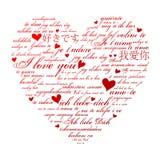 De Vorm van het hart Royalty-vrije Illustratie