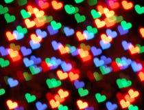 De vorm van het hart bokeh Royalty-vrije Stock Afbeeldingen