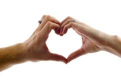De Vorm van het hart die door Handen wordt gemaakt Royalty-vrije Stock Afbeelding