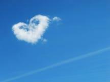 De vorm van het hart in hemel Stock Foto