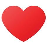 De vorm van het hart voor liefdesymbolen Stock Foto