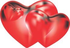 De vorm van het hart voor liefdesymbolen stock illustratie