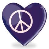 De vorm van het het symboolhart van de vrede Royalty-vrije Stock Afbeelding