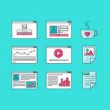 De Vorm van het Webmalplaatje Royalty-vrije Stock Afbeeldingen