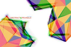 De vorm van de kleurendriehoek op een wit Stock Foto's
