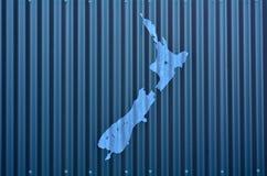De Vorm van Nieuw Zeeland Stock Foto