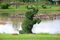 De vorm van olifanten in tuin Stock Afbeelding