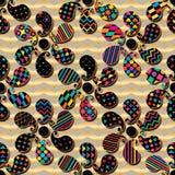 De vorm van Paisley roteert eenvoudig het naadloze patroon van de chevronsymmetrie royalty-vrije illustratie