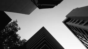 De vorm van skyscrappers Royalty-vrije Stock Foto's