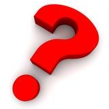 De vorm van vragen Stock Foto