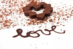 De vormchocolade van het hart Stock Afbeeldingen