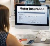 De Vormconcept van het Verzekeringsvoertuig van motorvoertuigen stock afbeeldingen