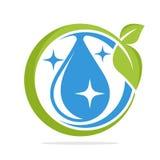 De vormembleem van de pictogramcirkel met het concept schoon water Royalty-vrije Stock Fotografie