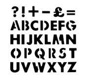 De vormen van de alfabetstencil Stock Afbeelding