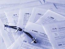 De vormen van belastingen stock afbeelding