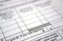De vormen van de belasting Stock Fotografie