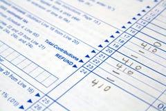De vormen van de belasting Royalty-vrije Stock Foto