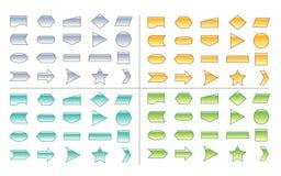 De Vormen van de Grafiek van het proces Stock Afbeelding