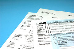 De Vormen van de Inkomstenbelasting Royalty-vrije Stock Afbeelding