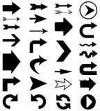 De vormen van de pijl Stock Afbeeldingen