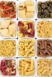 De vormen van deegwaren stock foto