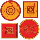 De vormen van Grunge Royalty-vrije Stock Afbeeldingen
