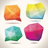 De vormen van het kristal Stock Foto