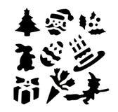 De vormen van de vakantiestencil Stock Foto's